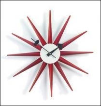 George Nelson Sunburst Clock by Vitra - Red