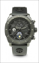 Armand Nicolet S05 Nero Chronograph and Complete Calendar T618N-NR-G9610