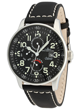Zeno Watch Basel XL Pilot Dual Time Power Reserve P555-a1