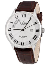 Edox Les Vauberts Automatic Day Date 83010 3B AR