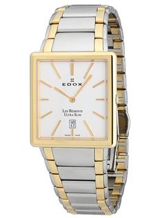 Edox Grand Ocean Ultra Slim PVD Gents Quartz Watch 27035 357N NIN