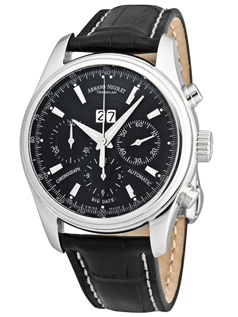 Armand Nicolet S05 Nero Chronograph & Complete Calendar T618N-NR-P160